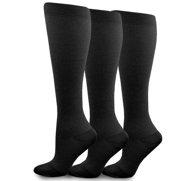 f8ef113b2f8 Shop Teehee Microfiber Compression Knee High Socks (Pack of 3) - Free  Shipping On Orders Over  45 - Overstock - 10566427