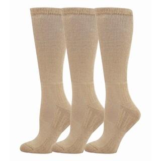 Teehee Diabetes Crew Socks (Pack of 3) (Option: 911 Tan)