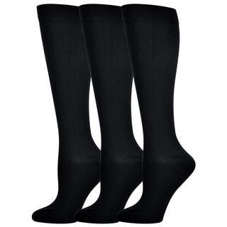 Teehee Compression Knee High Socks (Pack of 3) (Option: Brown)|https://ak1.ostkcdn.com/images/products/10566434/P17643950.jpg?impolicy=medium