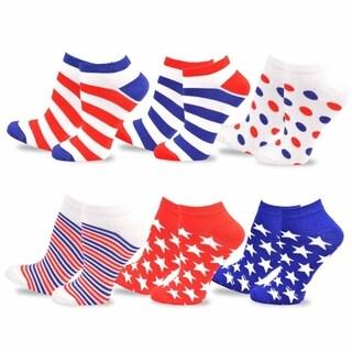 Teehee Unisex I Love Usa American Flag Socks