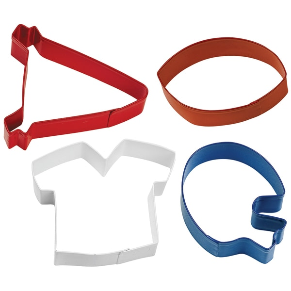 Metal Cookie Cutter Set 4/PkgFootball Theme