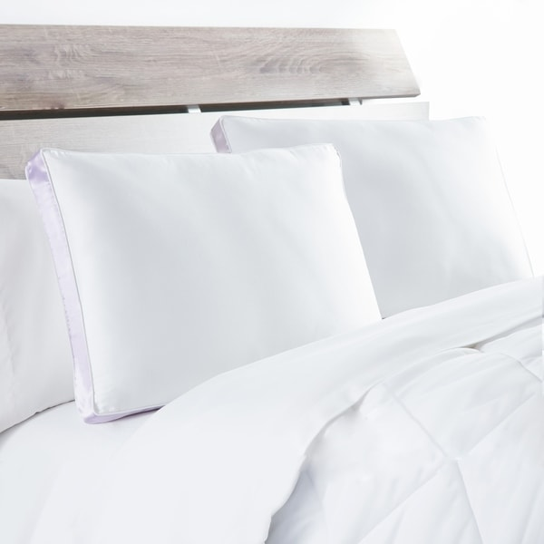 DOWNLITE Extra Firm 300 TC Side Sleeper Pillow (Set of 2) - White