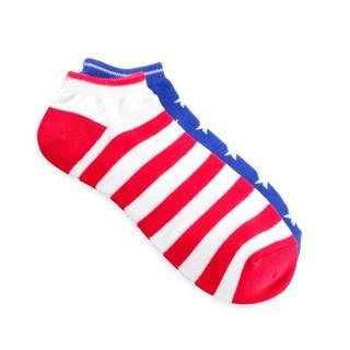 Teehee American Flag Women's Mix Match No Show Socks (Pack of 3)