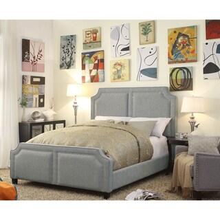 Sanibel Grey Upholstery Queen Platform Bed