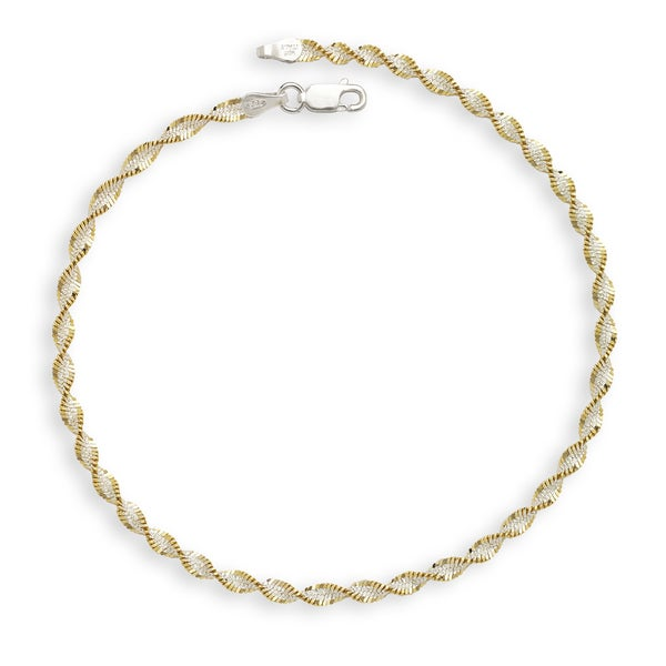 Shop Sterling Silver Two Tone Goldplated 10 Inch Rope