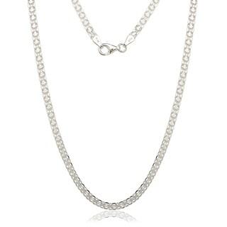 Sterling Silver Italian 3.5mm Bizmark Chain Necklace