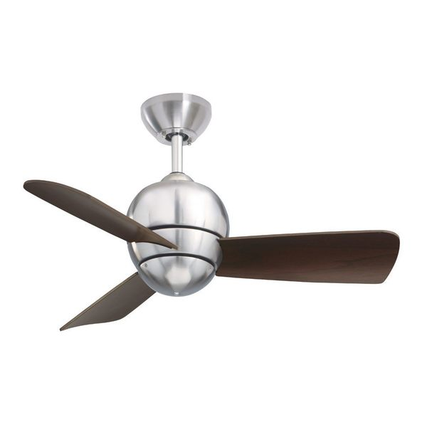 Shop emerson tilo 30 inch brushed steel modern indooroutdoor emerson tilo 30 inch brushed steel modern indooroutdoor ceiling fan silver mozeypictures Images