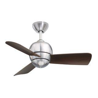 Emerson Tilo 30-Inch Brushed Steel Modern Indoor/Outdoor Ceiling Fan
