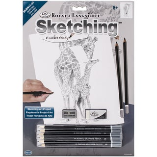Sketching Made Easy Kit 9inX12inGiraffe & Baby