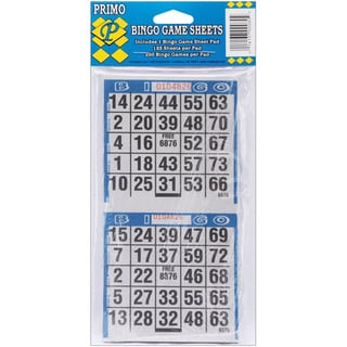 Bingo Game Sheets 4inX8in 125/Pkg250 Games