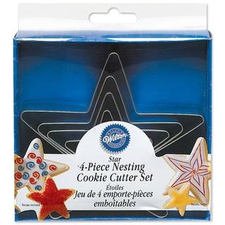 Nesting Metal Cookie Cutter Set 4/PkgStars