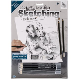 Sketching Made Easy Kit 9inX12inDalmation Pup