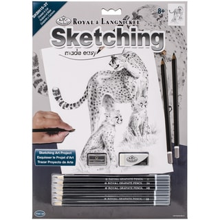 Sketching Made Easy Kit 9inX12inCheetah & Cub