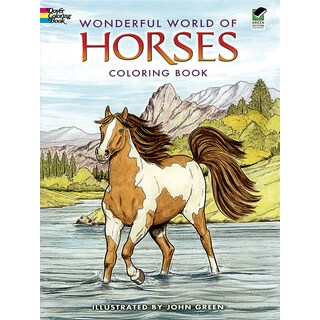 Dover PublicationsWonderful World Of Horses Coloring Book