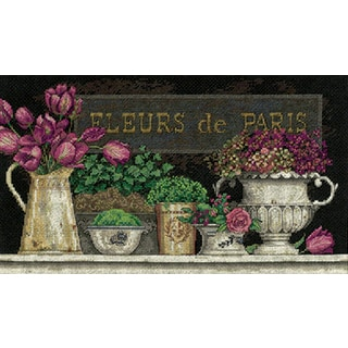 Fleurs De Paris Counted Cross Stitch Kit14inX8in 14 Count