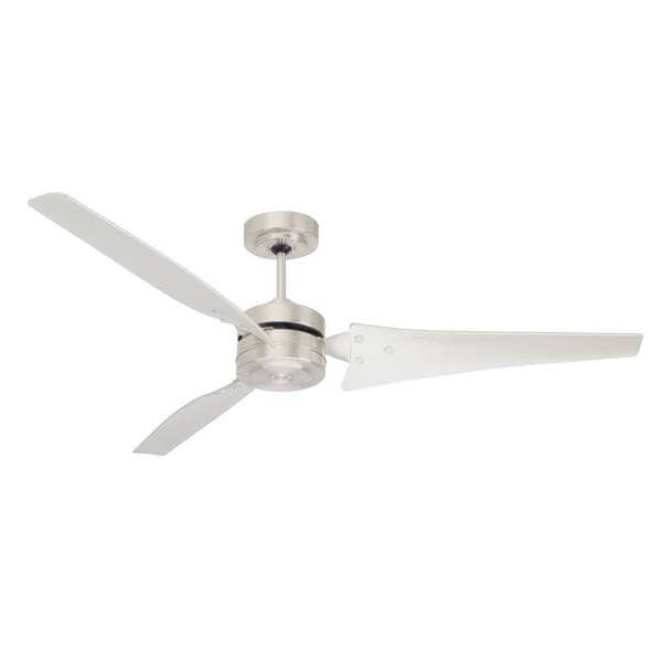 Emerson Loft 60-Inch Brushed Steel Modern Ceiling Fan - Silver