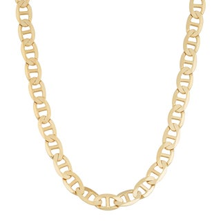 Fremada 14k Yellow Gold 5-mm Solid High Polish Mariner Link Necklace