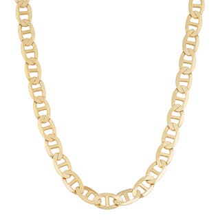 Fremada 14k Yellow Gold 5-mm Solid High Polish Mariner Link Necklace|https://ak1.ostkcdn.com/images/products/10566635/P17644248.jpg?impolicy=medium