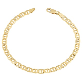 Fremada 14k Yellow Gold 5-mm Solid High Polish Mariner Link Bracelet