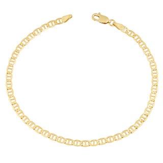 Fremada 14k Yellow Gold 4.35-mm Solid High Polish Mariner Link Bracelet