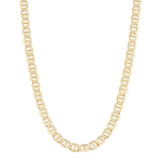 Fremada 14k Yellow Gold 3.5-mm Solid High Polish Mariner Link Necklace