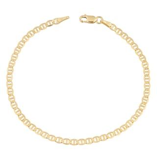 Fremada 14k Yellow Gold 3.5-mm Solid High Polish Mariner Link Bracelet
