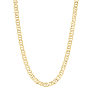 Fremada 14k Yellow Gold 3-mm Solid High Polish Mariner Link Necklace