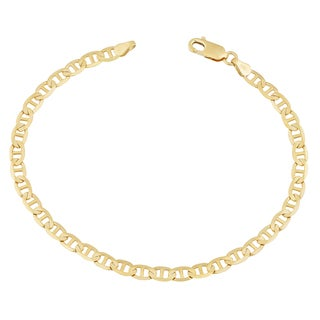 Fremada 14k Yellow Gold 3-mm Solid High Polish Mariner Link Bracelet
