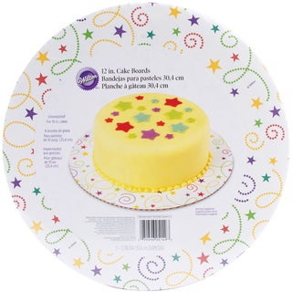 Cake Boards12in Round Party Swirl 3/Pkg