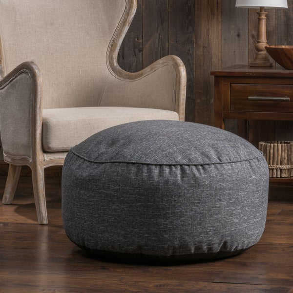 Shop Christopher Knight Home Hendrix Round Fabric Pouf