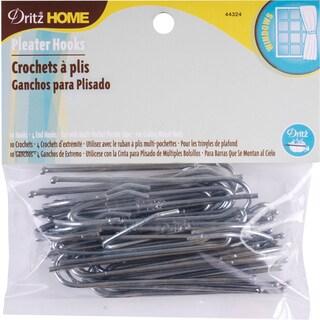 Ceiling Pleater Hooks 10/Pkg (4 Ends)