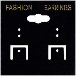 Earring Cards 2inX2in 100/PkgBlack PVC