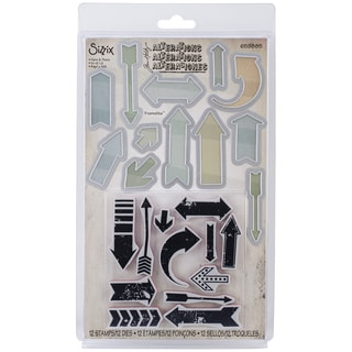 Sizzix Framelits Dies W/Clear Stamps By Tim HoltzHere & There