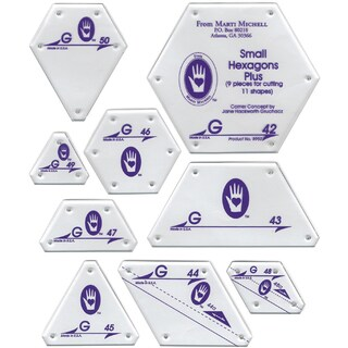 Perfect Patchwork TemplateSet G Small Hexagon Set 9/Pkg