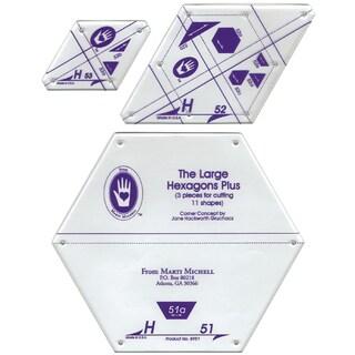 Perfect Patchwork TemplateSet H Large Hexagon Set 3/Pkg
