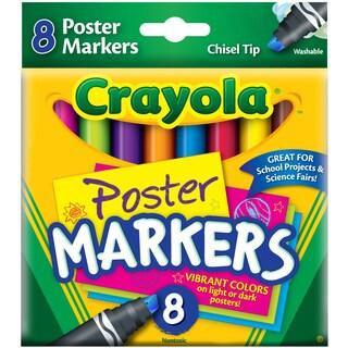 Crayola Poster Chisel Tip Markers8/Pkg