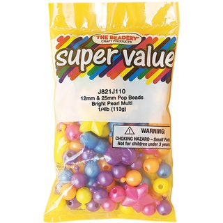 Pop Beads 12mm & 25mm 113gPearl Multicolor