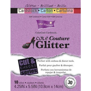 Core'dinations Cut & Emboss Cardstock Pad 4.25inX5.5in 30/PkgCore Couture Glitter|https://ak1.ostkcdn.com/images/products/10566811/P17644397.jpg?impolicy=medium