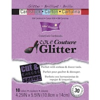 Core'dinations Cut & Emboss Cardstock Pad 4.25inX5.5in 30/PkgCore Couture Glitter