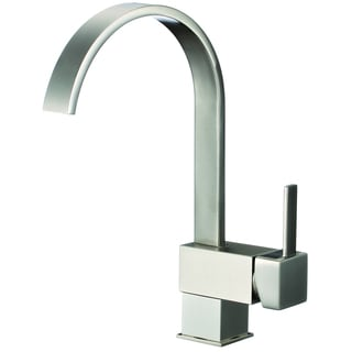 Lead-free Brushed Nickel 12.2-inch High Arch Single-handle Pull-down Kitchen Faucet with Soap Dispenser