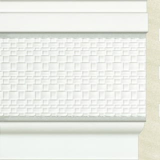 Upscale Designs 72-inch Polystyrene White with Silver Trim Base Moulding (10 panels)