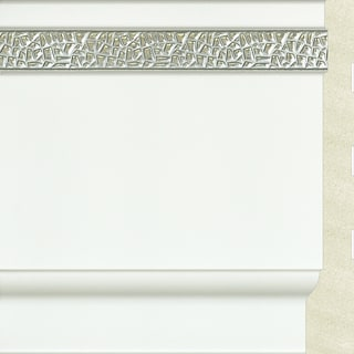 Upscale Designs 72-inch Polystyrene White with Silver Base Moulding (10 panels)