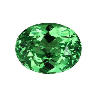 Oval-cut 6.8x8.8mm 2 1/4ct Tsavorite-mint Garnet