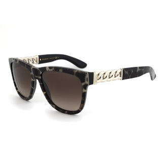 Yves Saint Laurent YSL 6373/S YXOHA Wayfarer Sunglasses with a Black Panther Frame and Brown Gradient Lens