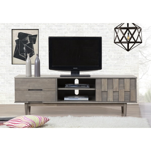 Shop Jasper Laine Grey Tessuto 70 Inch Entertainment