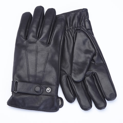 Royce Leather Premium Lambskin Leather Cellphone Tablet Touchscreen Gloves, Men's Extra Large, Black
