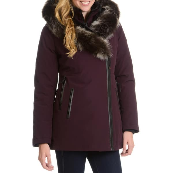 latest trends search for original top design Shop Women's Down Jacket with Faux Fur Trim Hood - Free ...