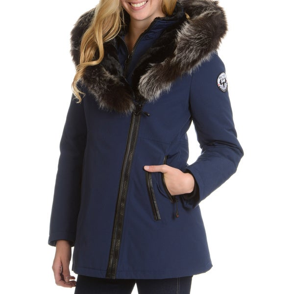 dbd3b790104e Shop Women s Down Jacket with Faux Fur Trim Hood - Free Shipping ...