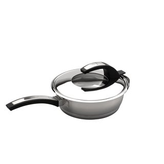 Virgo 9.5-inch Stainless Steel Covered Deep Skillet