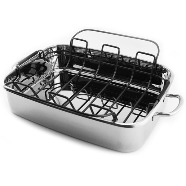 Shop Stainless Steel 15 Inch Roaster Pan Free Shipping